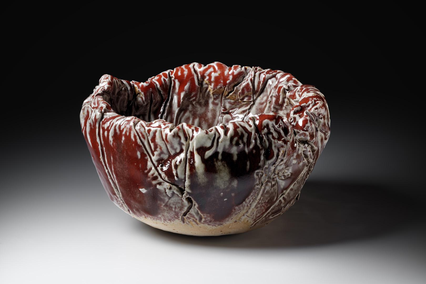 Fleischtopf 1; H 11,5 cm – 9 cm; Durchmesser 20 cm; Steinzeug, Reduktionsbrand 1280; 2016;
