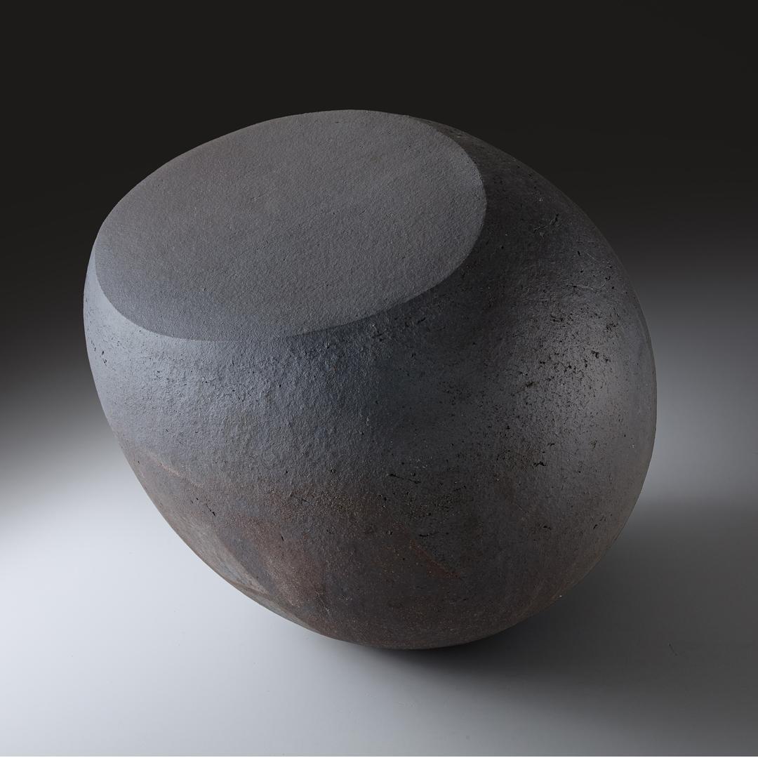 Rundes Objekt, schwarz