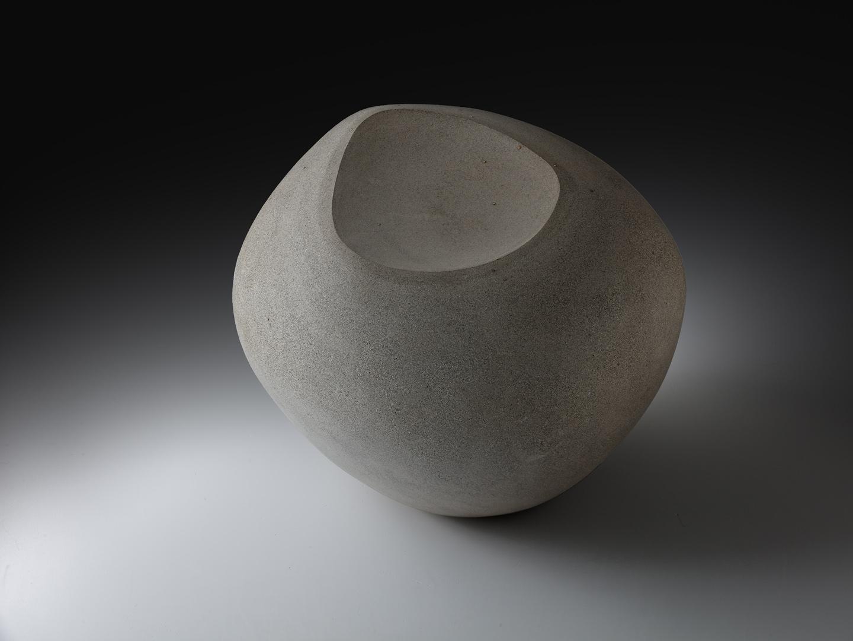 Rundes Objekt, grau